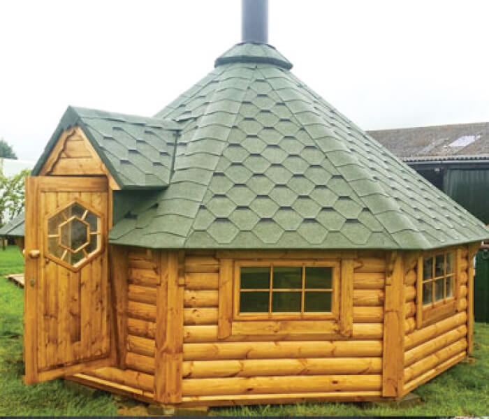 Traditional Style 14.9 sq.m. BBQ Hut