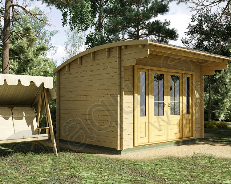 3.5m x 3m Curved Roof Cabin